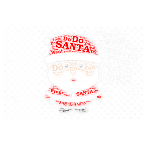 What Do You Want From Santa? word cloud art