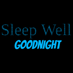 Sleep With Good Thoughts word cloud art