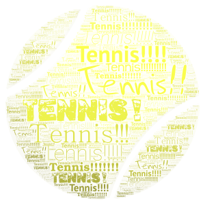 Tennis! word cloud art