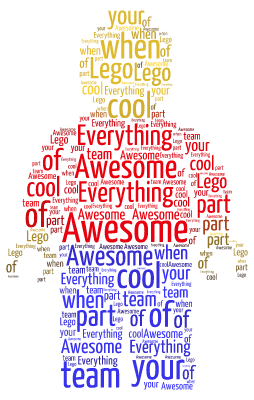 Lego  word cloud art