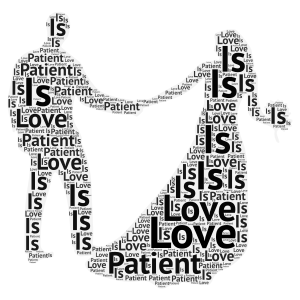 Wonderful love word cloud art