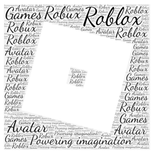 Roblox word cloud art