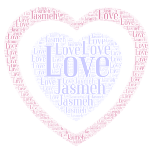 Love From Me word cloud art