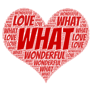 LOVE IS WONDERFUL  word cloud art