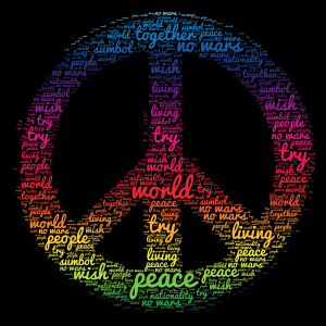 Like this if you wish there was world peace word cloud art