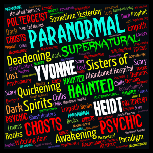 Paranormal Books by Yvonne Heidt word cloud art