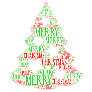 MERRY CHRISTMAS word cloud art