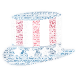 Vote On Voting Day! word cloud art