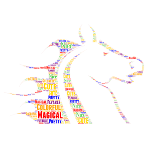 Unicorn! word cloud art