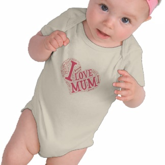 I Love Mum infant long sleevet