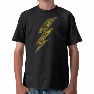 Lightning kids dark t-shirt
